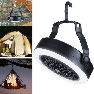 Portable 2-in-1 Tent Lamp Camping Light with Fan for Outdoor Hiking