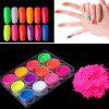 12 Color Fluorescent Series Laser Phototherapy Nail Polish Powder - MULTI-A