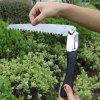 Folding Hand Wrench Saw Camping Outdoor Garden Fruit Tree Hacksaw - GRAPHITE BLACK