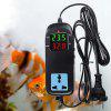 MH2000 LED Digital Display Breeding Temperature Controller Electronic Thermostat Thermocouple with Socket AC 90V-250V - BLACK