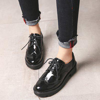Patent Leather Thick - soled Casual Women Shoes