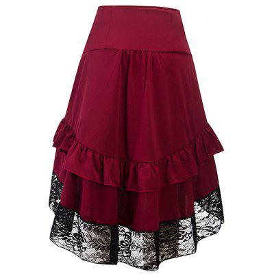 Stitching Lace Bag Hip Skirt