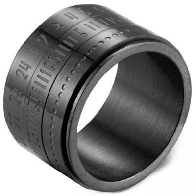 stylish titanium ring of time swirling