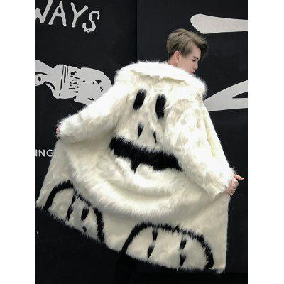 fur long youth stage show large size coat