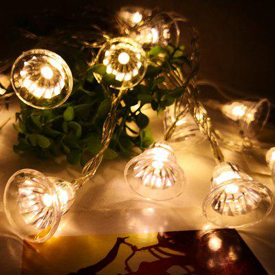 Batteria LED Christmas Bell Decorazione String Lights