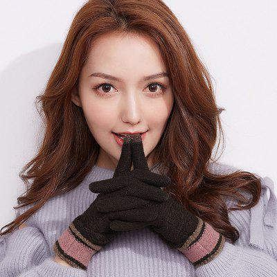 Winter Outdoor Touch Screen Ladies Knitting Gloves