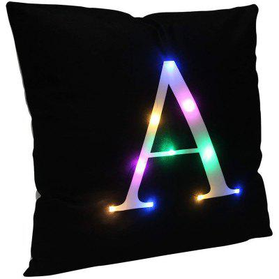 LED Lights Letter Plush Soft Federa Decorazioni per la casa di Natale
