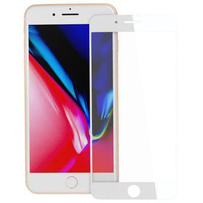 ZK 3D Surface Full Coverage White Tempered Glass Film for iPhone 8 Plus