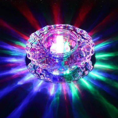 3W Color Light Wall Mounted Modern Minimalist Crystal Aisle Lamp Woonkamer Plafonddownlight