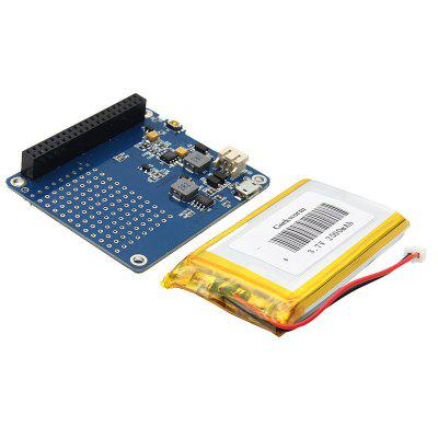 UPS HAT Board + 2500mAh Lithium Battery for Raspberry Pi 3 Model B / Pi 2B / B+ / A+ Module