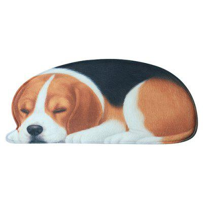 3d realistic puppy series home bedroom living room entry suede mat carpet