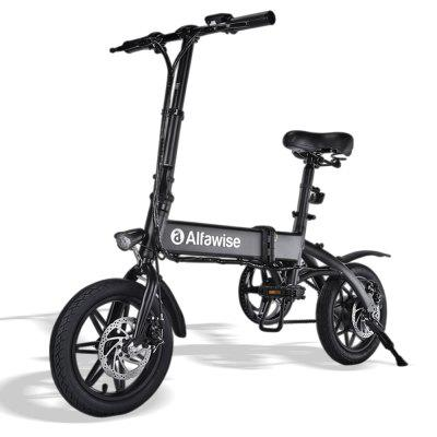 I-Alfawise X1 Folding E-Bike Electric Bike ene-250W Motor 25km / h Isantya