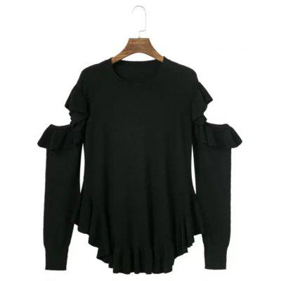 Women's Autumn Off-the-shoulder Long-sleeved Pullover Sweater