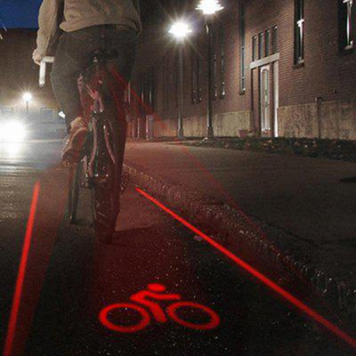 2 Lasers + 5 LEDs MTB Cycling Bicycle Safety Warning Light Bike Tail Lamp