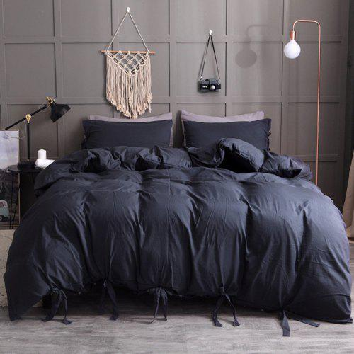 214931f4a6 Washable Cotton Solid Color Soft and Comfortable Bedding Set 228 x 228cm -  $39.08 Free Shipping|GearBest.com