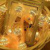 LED Lights With Vibrating Moroccan Ball Light String Battery Box - WARM WHITE