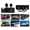 Waterproof Car Power Switch Double USB Charger Cigarette Lighter - BLACK