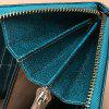 SENDEFN 5127 Women Leather Wallet Zipper Clutch Money Bag Case - GOLDENROD