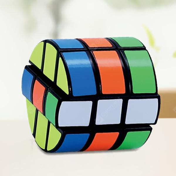 6.7cm Third-order Cylindrical Cube 3rd-order Round Cake 's Special-shaped Magic Cube