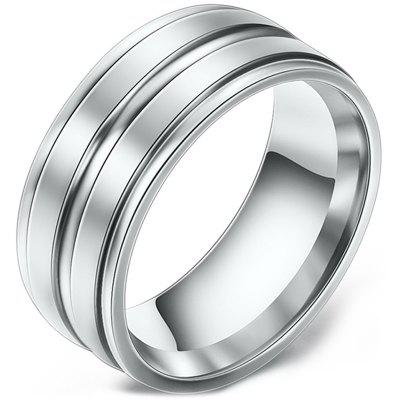 Female 8mm Double Frosted Stainless Steel Ring