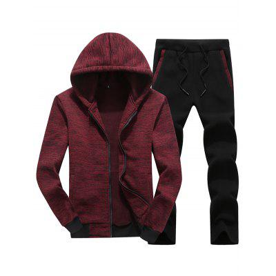 T88 - 528B Men Casual Sports Two-piece Hooded Sweater