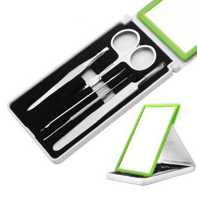 Multifunctionele roestvrijstalen Acne Needle Black Eyebrow Clip 5st
