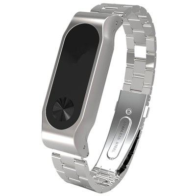 TAMISTER Solid Steel Business Anti-perdido substituição Watch Strap para Xiaomi Mi Band 2