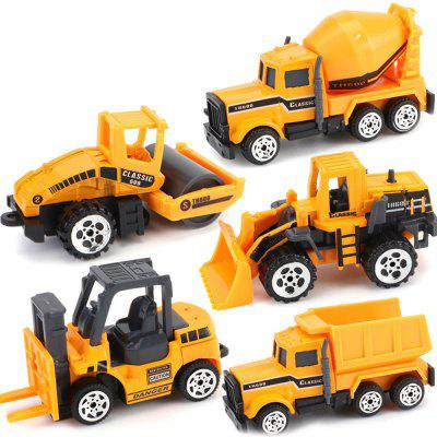 605 Children's Toy Alloy Car Engineering Fire Military Suit Excavator 5pcs