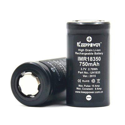 KeepPower 18350 Batterie Li-ion Rechargeable de 3,7V 750mAh
