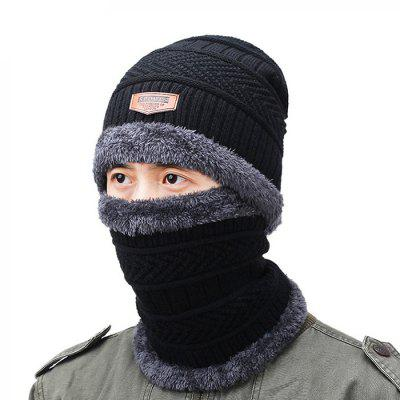 Autumn and Winter Wool Knit Hat Scarf Two-piece Set