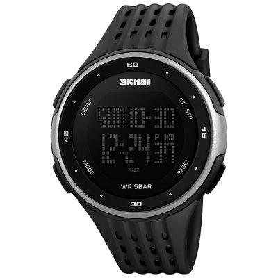 SKMEI grote wijzerplaat LED digitale waterdichte alarm kalender Fashion Casual Watch