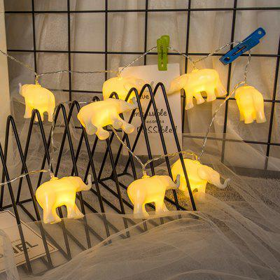 BRELONG Halloween Decorative Elephant 10 LED String Light