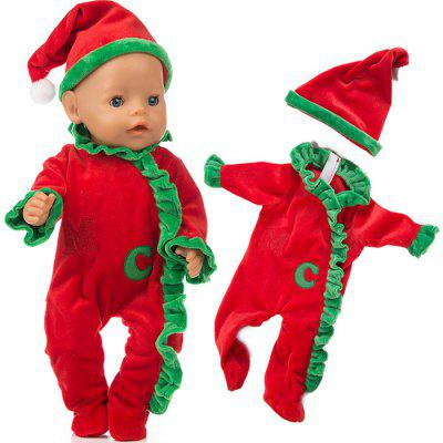 Simulation Doll Christmas Clothes Set