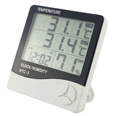 Digital Thermometer Hygrometer Electronic LCD Temperature Humidity Meter Clock