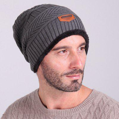 Fashion Warm Velvet Cotton Knitted Outdoor Pullover Hat