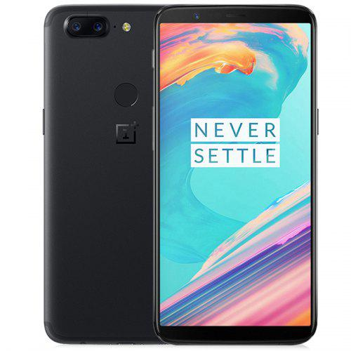 Gearbest OnePlus 5T 4G Phablet International Version - BLACK 6GB RAM 64GB ROM 16.0MP Front Camera Face Sensor
