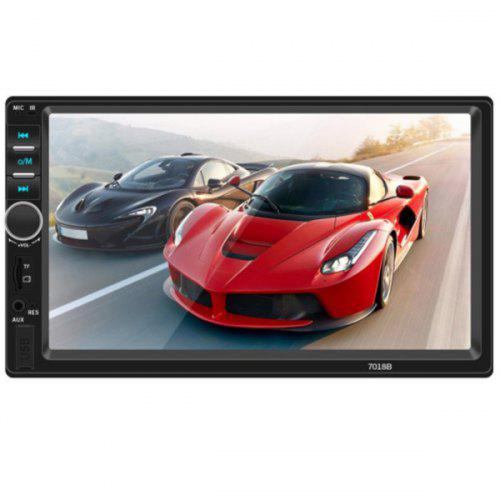 Gearbest 7018B HD Large Screen Digital Navigator Car Bluetooth MP5 Player - BLACK