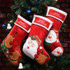 Decorations Christmas Candy Bags Old Man Snowman Socks Pendant - RED