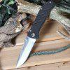 Tonife CKT6012 Outdoor Folding Knife with Liner Lock - BLACK