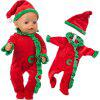 Simulation Doll Christmas Clothes Set - RED