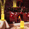 Z20 Creative LED Candle Night Light Christmas Snowflake Projector Lamp with Remote Control for Decoration Holiday Wedding - WARM WHITE