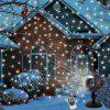 LED Snowfall Projector Lights Christmas Snowflake Projection Lamp with Wireless Remote Indoor Outdoor for Halloween Party Wedding Garden Decorations - BLACK