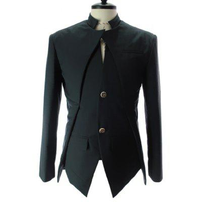 Men Comfortable Slim Asymmetrical Blazer Suit
