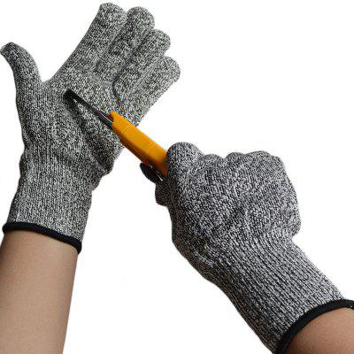 HPPE Cut-proof Dipped Steel Wire Slaughter Woodworking Carving Safety Gloves