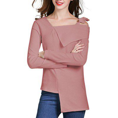 HQ0084 Frauen Solide Bowknot Langarm Pullover