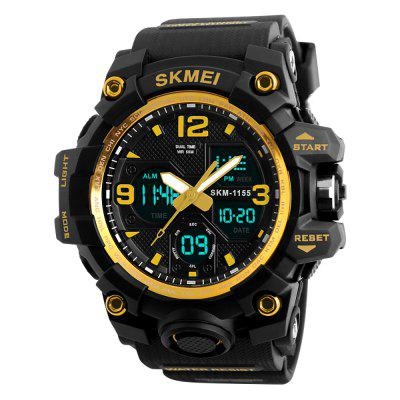 Refurbished SKMEI Men Sport Digital Watch with Chronograph Double Time Alarm Light