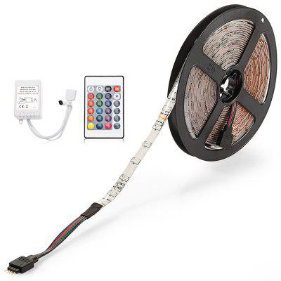 ZDM 5M 24W Waterproof RGB Light LED Strip Light with IR Remote Controller DC12V