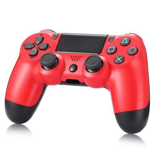Gearbest GOCOMMA PS4 Wired Split Line No Hole Gamepad Controller - Red