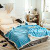 Simple Corduroy Cashmere Thick Double Blanket - DEEP SKY BLUE