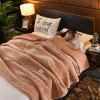 Stylish Nordic Simple Plain Quilted Three-layer Blanket - BROWN SUGAR